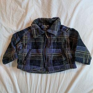Vintage baby plaid jacket coat canadiana